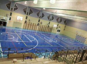 רצפת אולם ספורט מפרט ביצוע ציפוי גמיש חסין אש www.denber-paints.co.il